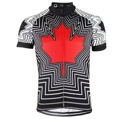 Invert Team Canada Maple Leaf Jersey - Bicycle Booth Cycling Gear, Cycling Jerseys, Indoor Trainer, Canada Maple Leaf, Bike Components, Spring Weather, Two By Two, Bicycle, Mens Tops