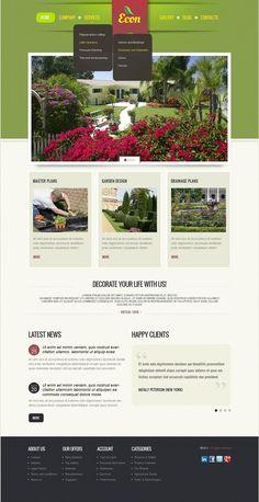 Landscape Design #Drupal #Responsive Template via @medosadvert #39990