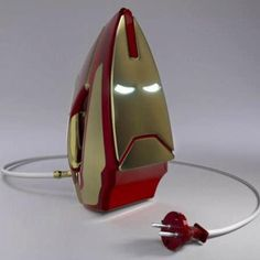 Iron Man Iron.... who does't want this?    Defeat wrinkles, be a hero, Tony Starch. A household appliance even a genius billionaire playboy philanthropist could get behind.