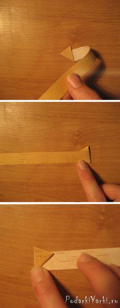 Треугольник из бересты как сделать? - купить подарок ручной работы в Екатеринбурге