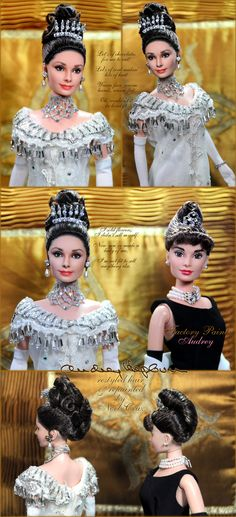 Audrey Hepburn in My Fair Lady by Noel Cruz (Amazing artists repaints dolls to make them look like the actual people who they are meant to represent)
