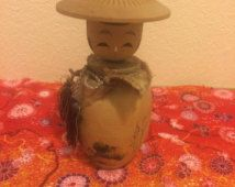 Sosaku mini de vintage poupée kokeshi du Japon