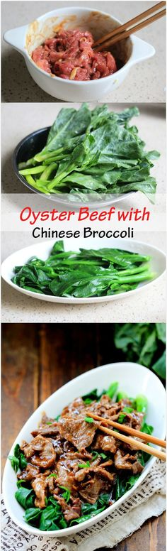 Oyster Beef with Chinese Broccoli | China Sichuan Food
