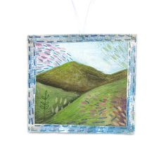 Your place to buy and sell all things handmade Hand Embroidery Stitches, Hand Stitching, Hand Painted Fabric, Calico Fabric, Summer Landscape, Fabric Painting, Textile Art, Textiles, Quilts