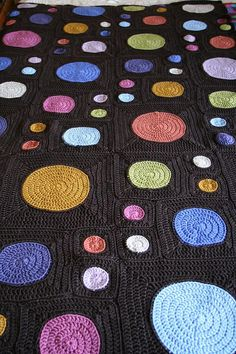 gone dotty #crochet blanket free pattern from @Lion Brand