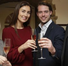 Prince Felix and Princess Claire of Luxembourg, delighted, showed for the first time the wines of their provencal estate, the Château les Crostes, 27.11.13 Luxembourg restaurant La Table des Guilloux