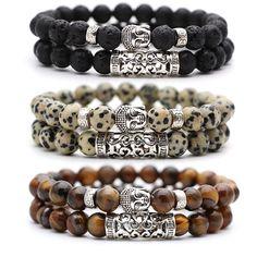 set Black Lava Stone Prayer Beads Buddha Men Bead Bracelet Beaded Bracelets for Women and Mens Pulseras Masculina Bracelets For Men, Fashion Bracelets, Jewelry Bracelets, Fashion Jewelry, Ocean Jewelry, Boho Jewelry, Ethnic Jewelry, Buddha Beads, Turtle Necklace
