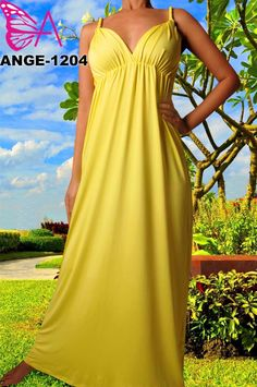 $45.00--Solid Banana Yellow Maxi Dress. Spring is here! Hurry and Pre-Order yours today! Click here: http://thefirstladyboutique.net/item_460/1204-Solid-Banana-Yellow-Maxi-Dress.htm