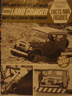 FJ40 Technical Specifications Leaflet - Thiess Australia 1970 (