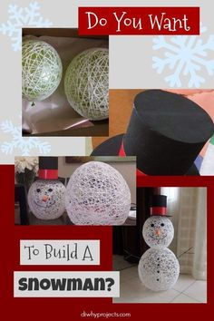 Do you want to build a snowman? See how with this yarn snowman craft tutorial! Your kids will love helping with this one, and it turns out so cute! Winter Crafts For Kids, Crafts For Boys, New Crafts, Holiday Crafts, Craft Kids, Sister Crafts, Snowman Decorations, Snowman Crafts, Snowman Ornaments