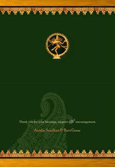 Blessed Arangetram Arangetram Invitations Arangetram Invitations