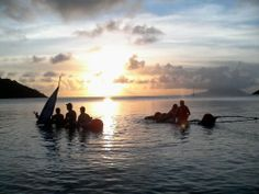 Our #GVISeychelles volunteers are testing their rafts for tomorrows fund raiser challenge!