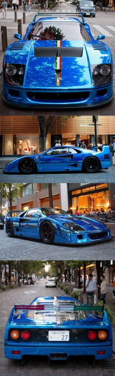 1989 Ferrari F40 LM / 760hp / Italy / blue chrome wrap