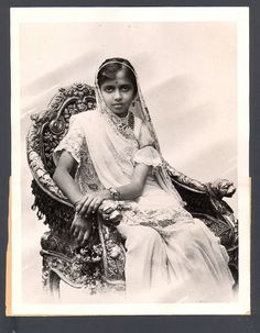 Princess Dhanvant Kunvari of Dharampore, whom the future Maharaja Hari Singh married in 1923; a news photo, on the occasion of ablackmail scandal about his behavior in Europe (she died very young, and he remarried)