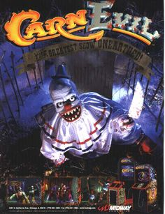 carnevil | ... Valley City Utah - Carnevil by Midway - Horror Light-Gun Arcade Game