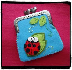Inspiration | Meia Lua | Ladybug for a hair clip!!!