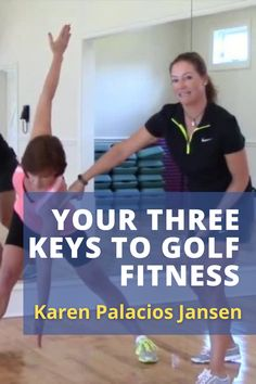 The three key golf fitness practices Karen Palacios-Jansen recommends are a good pre-round warm up, managing your energy during the round, and off-course stretching to build your flexibility. #golf #golftip #golfswing #golflessons #womensgolf Golf Books, Golf Score, Golf Chipping, Best Golf Courses, Golf Instruction, Golf Putting, Golf Exercises, Golf Training, Golf Lessons