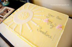 You are my sunshine sheet cake
