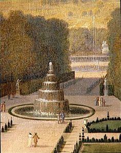 Etienne Allegrain   Promenade de Louis XIV en vue du Parterre du Nord dans les jardins de Versailles vers 1688   Images d'Art
