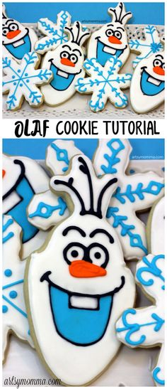 Olaf Cookie Recipe Tutorial - Frozen Birthday Party Idea