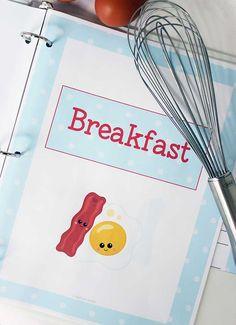 Printable Recipe Binder for Kids Who Love to Cook American ExpressDinersDiscoverJCBMasterCardPayPalSelzVisa