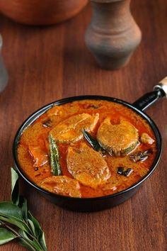 Substitute eggplants for fish- kerala style curry coconut and chili based gravy. Indian Fish Recipes, Fried Fish Recipes, Veg Recipes, Spicy Recipes, Curry Recipes, Seafood Recipes, Cooking Recipes, Cooking Fish, Recipies