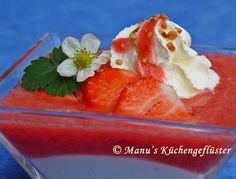 Quarkpudding mit Erdbeerpüree