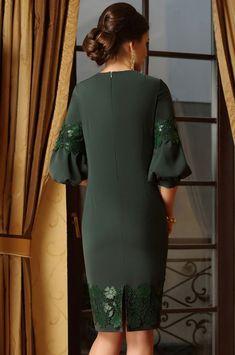 Платье Lissana, темно-зеленый (модель 3247) — Белорусский трикотаж в интернет-магазине «Швейная традиция»