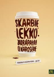 Wake Up in Every Cup by Noeeko , via Behance Typography Ads, Typography Design, Mc Donald Ads, Mcdonalds Coffee, Nescafe, Ad Design, Print Ads, Motion Design, Graphic Design Inspiration