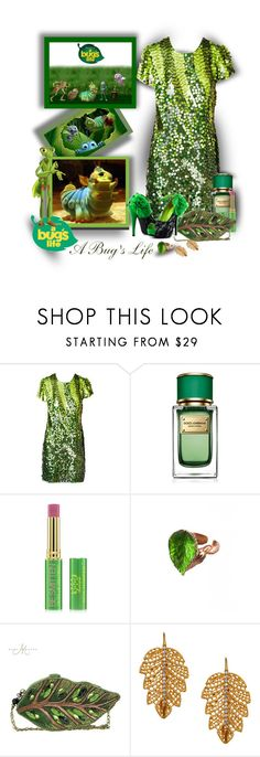 """""""A Bug's Life!!!"""" by sarahguo ❤ liked on Polyvore featuring John Galliano, Dolce&Gabbana, Tata Harper, Vernissage, Mary Frances Accessories and Marika"""