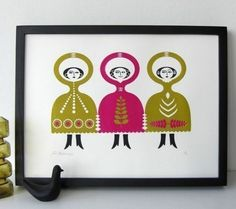 Folkdance Screenprint by Roddy and Ginger.