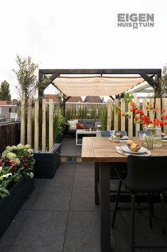 Pergola For Small Patio Balcony Garden, Garden Beds, Indoor Garden, Easy Garden, Home And Garden, Pergola Decorations, Garden Design Plans, Outdoor Pergola, Garden Living