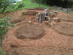 layout-preplant Permaculture, Outdoor Ideas, Outdoor Gardens, Mandala, Layout, Chicken, Page Layout, Gardens, Mandalas