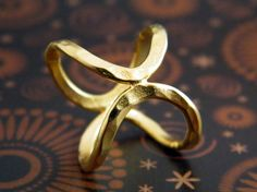 Infinity ring oval ring gold handmade ring by AyalaVitkon on Etsy