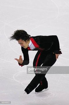 Daisuke Takahashi of Japan competes in the Men's Short Program Figure Skating during Day 4 of the Turin 2006 Winter Olympic Games on February 14 2006...