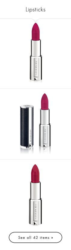 """""""Lipsticks"""" by rastaress-motso ❤ liked on Polyvore featuring beauty products, makeup, lip makeup, lipstick, beauty, natural, givenchy lipstick, givenchy, berry and lips"""