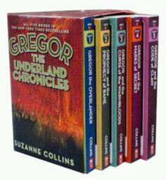 Gregor the Underland Chronicles by Suzanne Collins-same author as Hunger games-read all of them -great storyline