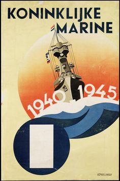 KM poster uit (of vlak na) de tweede wereld oorlog.