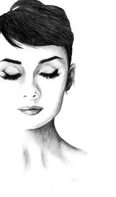Audrey Hepburn – About Face Makeup Audrey Hepburn Zeichnung, Audrey Hepburn Kunst, Audrey Hepburn Tattoo, Audrey Hepburn Drawing, Audrey Hepburn Hair, Audrey Hepburn Quotes, Audrey Hepburn Illustration, Audrey Hepburn Wallpaper, Classic Hollywood