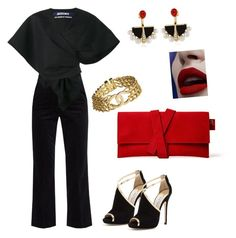 Night at the museum by vrbweb on Polyvore featuring polyvore, fashion, style, Jacquemus, M.i.h Jeans, Jimmy Choo, Chanel, Lalique and clothing