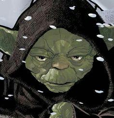 Yoda looks cold