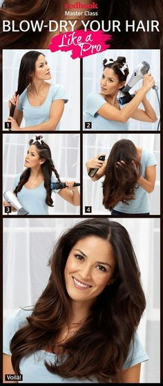A blow dry at a salon is always wonderful-it goes for whole day grooming! Annoyed using the blow dryer? Looking for tips and tricks on how to blow dry hair at home? This article shows you a How to blow dry hair straight hair. My Hairstyle, Pretty Hairstyles, Straight Hairstyles, Hairstyle Ideas, Ladies Hairstyles, Long Haircuts, Blowout Hairstyles, Fashion Hairstyles, Hairstyle Tutorials