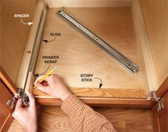 Great tutorial to add slide-outs to the kitchen cabinets you already have-