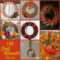 Decorate your home this autumn with a beautiful and fun-to-make DIY fall wreath!