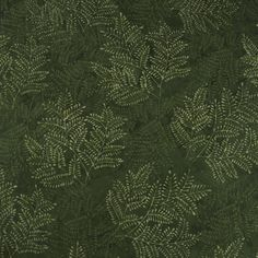 Forest Fern Cotton Calico Fabric   	$9.09