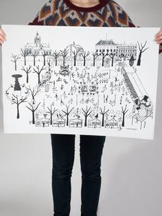 Kungsträdgården Poster City Illustration, Pattern Illustration, Olle Eksell, Ice Rink, Stockholm Sweden, Crafts For Kids, Poster, Artsy, Walls