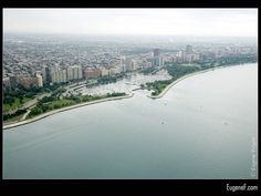 Chicago Lake Front #Aerials #freewallpapers