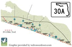 30A Bike Trail Map