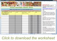 3 Month Supply Meal Planning Worksheet:  Auto-calculates how much of each ingredient you need for a full 90 days of meals