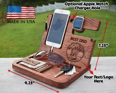 Wooden Docking Station Unique holiday gift Christmas New